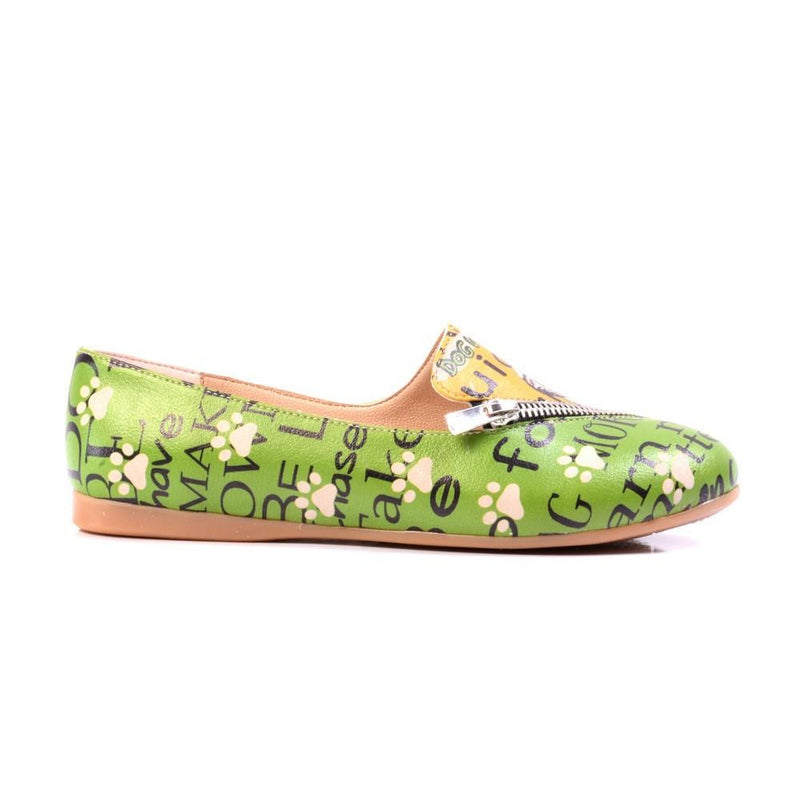 Dog Wishdown Ballerinas Shoes YAB301 (1421237780576)
