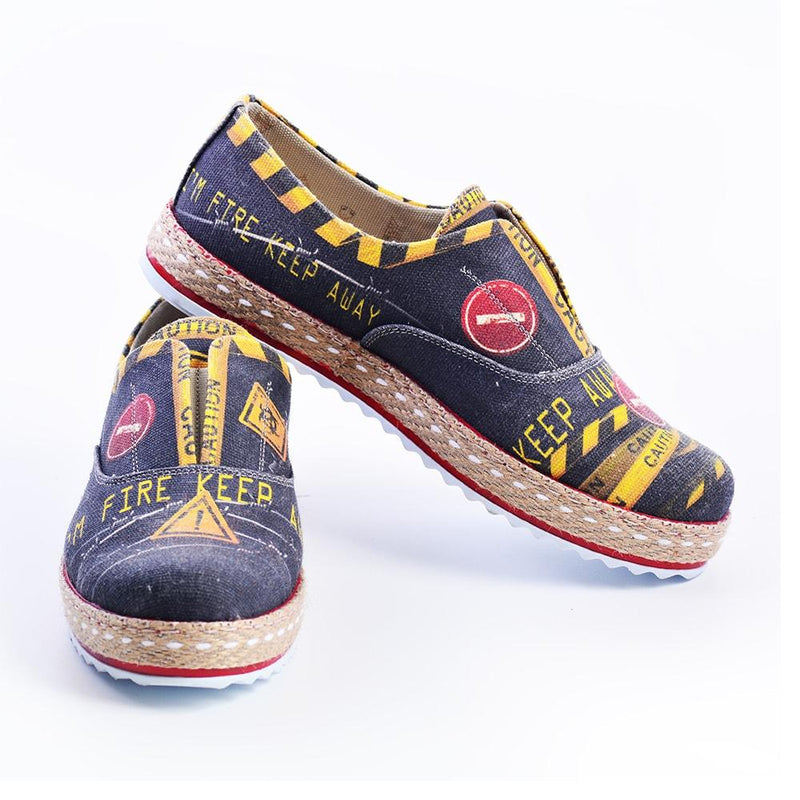 Caution Slip on Sneakers Shoes YAR104 (506283261984)