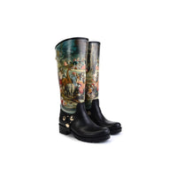 Ancient Art Long Rain Boots YB202