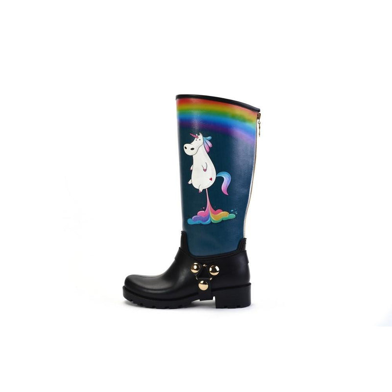 Unicorn Fart Long Rain Boots YB205 (1332766638176)