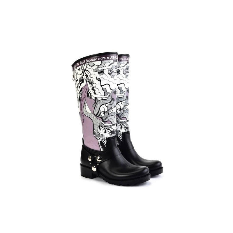 I Love the Rain Long Rain Boots YB206 (1332766670944)