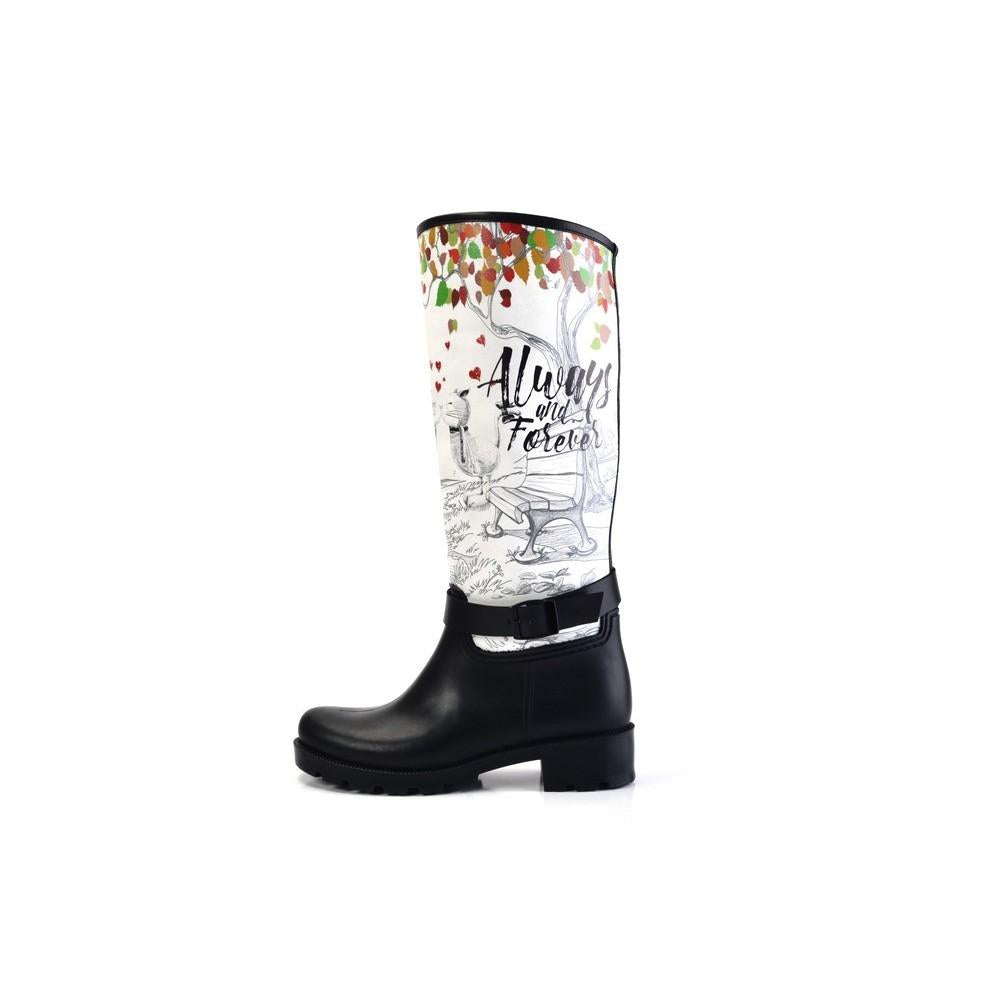 Always and Forever Long Rain Boots YB301, Goby, WALKRAIN Long Rain Boots