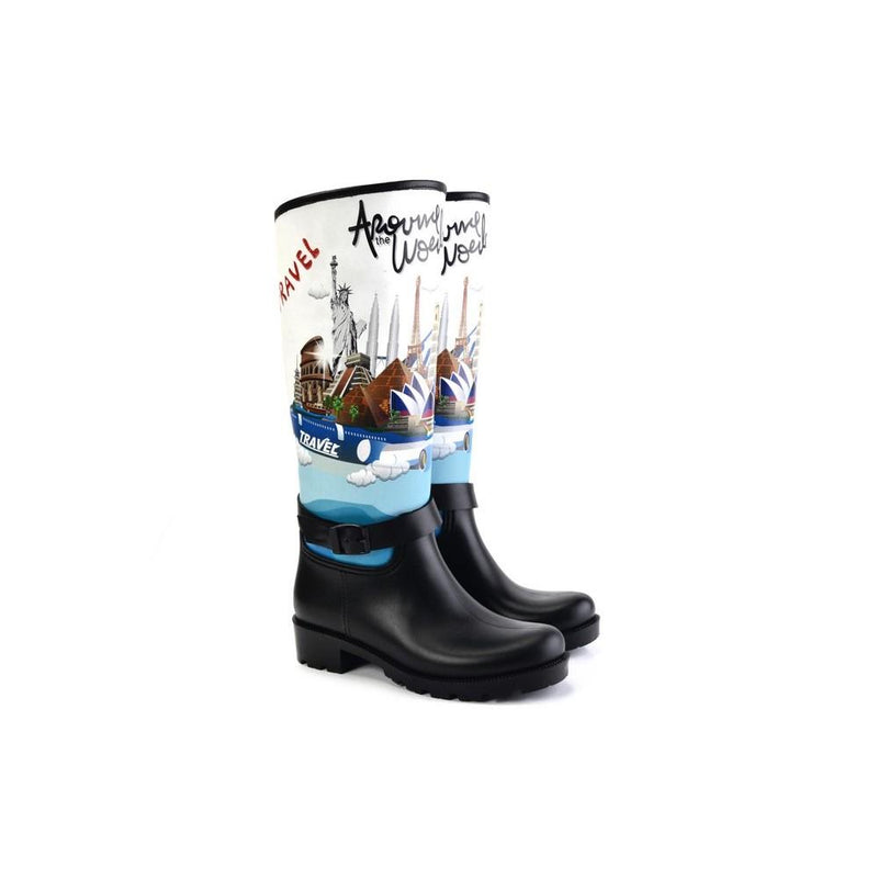 Around the Word Long Rain Boots YB302 (1332767195232)