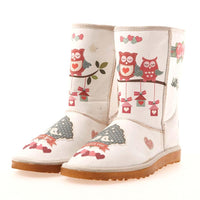 Cute Owl Long Boots MD005 (506268975136)