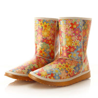 Flowers Long Boots MD022 (506269564960)