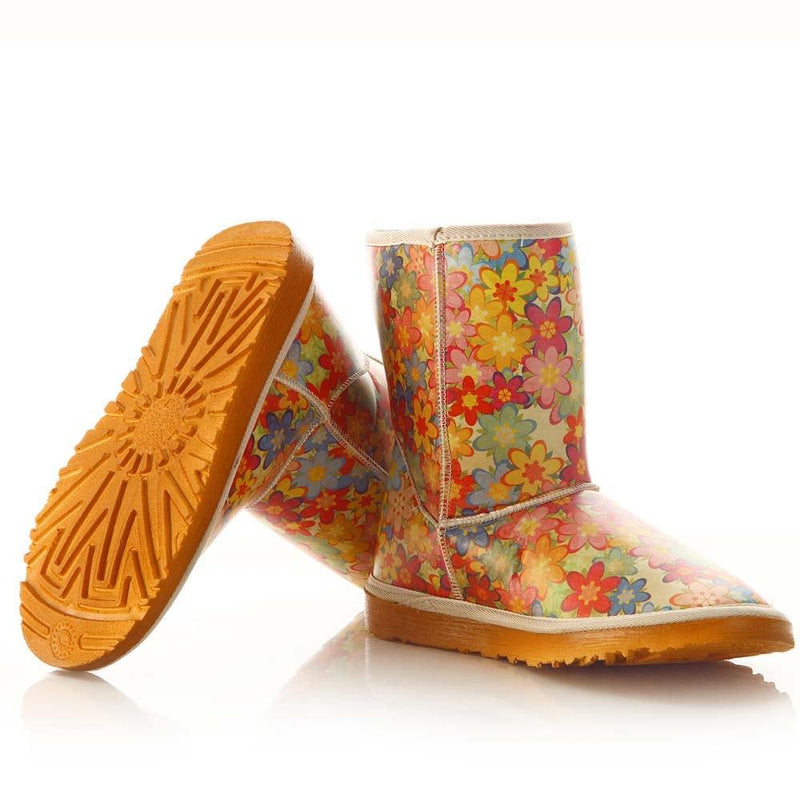 Flowers Long Boots MD022