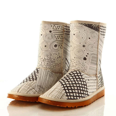 Pattern Long Boots MD027