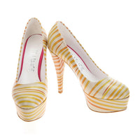 Striped Heel Shoes PLT2028 (1421223198816)