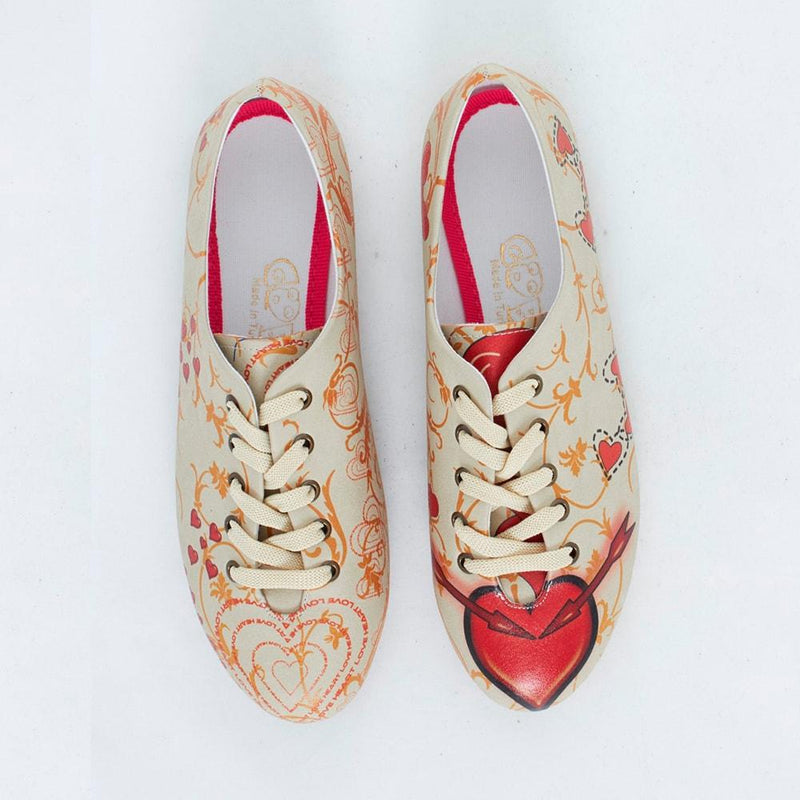 Red Heart Ballerinas Shoes SLV059 (506274742304)