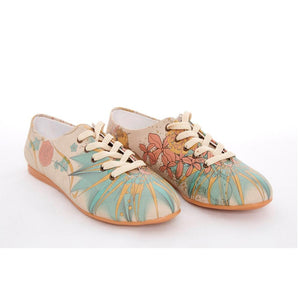 Flowers Ballerinas Shoes SLV062 - Goby GOBY Ballerinas Shoes