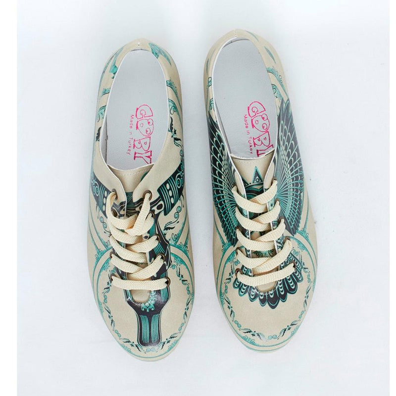 Blue Pattern Ballerinas Shoes SLV069 (506275004448)