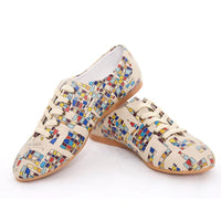 Colored Squares Ballerinas Shoes SLV078 (506275332128)