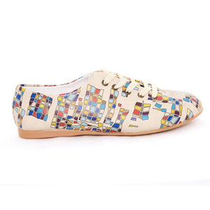 Colored Squares Ballerinas Shoes SLV078 - Goby GOBY Ballerinas Shoes