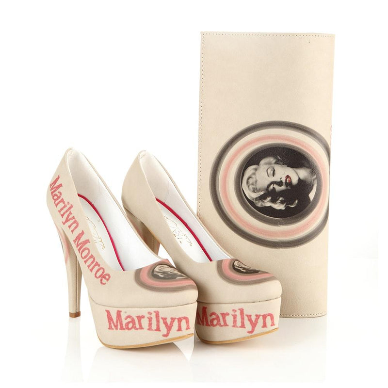 Marilyn Monroe Platform Shoes and Bag Set ST7007 (1405812015200)