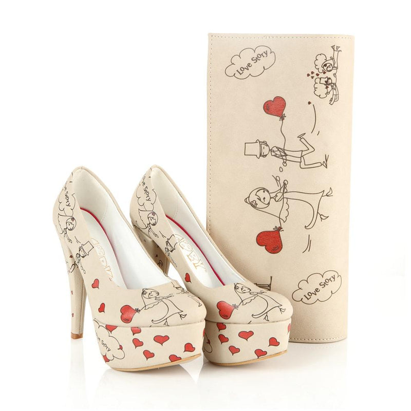 Love Story Platform Shoes and Bag Set ST7011 (506276347936)