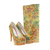 Stars Platform Shoes and Bag Set ST7020 (1405812441184)