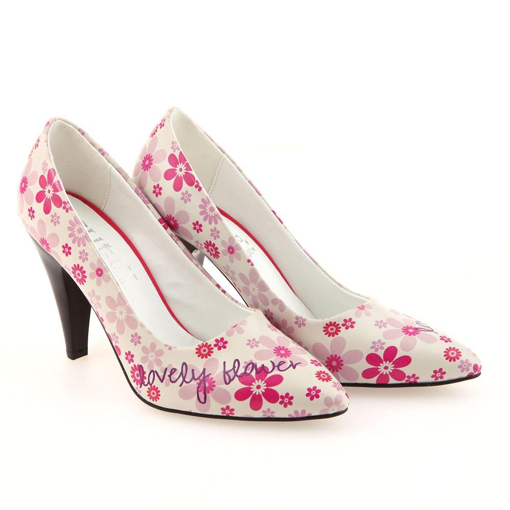 Lovely Flower Heel Shoes Stl4001 Shop Goby
