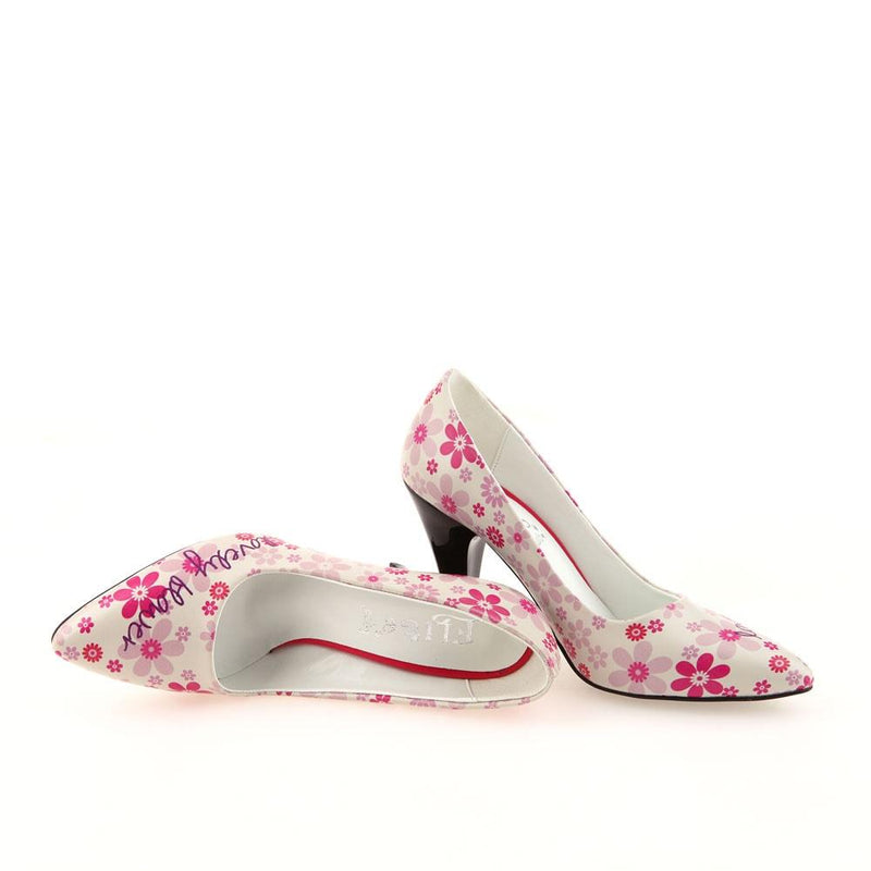 Lovely Flower Heel Shoes STL4001 (506276380704)