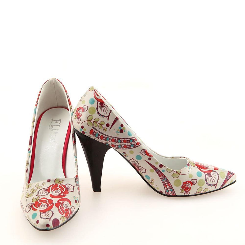 Flowers Heel Shoes STL4004 (506276479008)