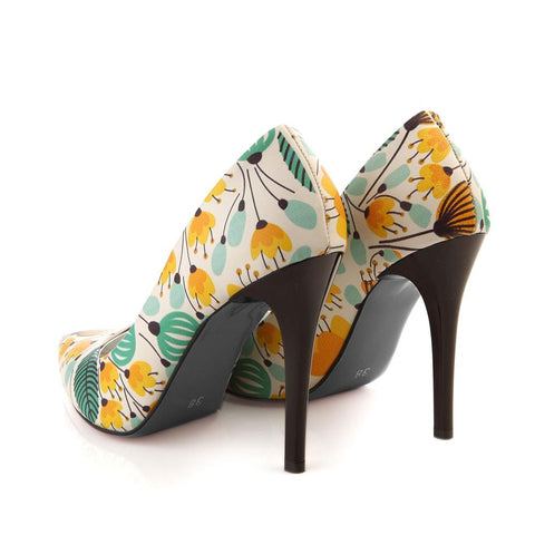 GOBY Flowers Heel Shoes STL4007