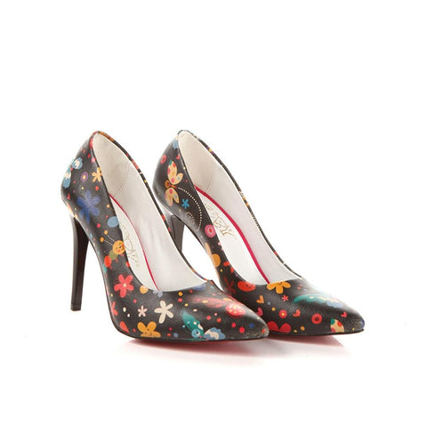 Flowers Heel Shoes STL4013 - Goby GOBY Heel Shoes