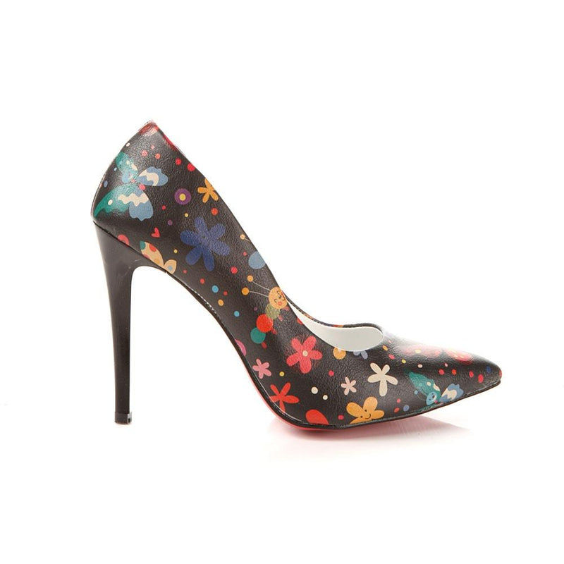 Flowers Heel Shoes STL4013 (506276773920)