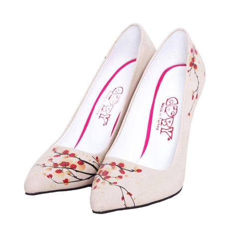 GOBY Cherry Blossom Heel Shoes STL4021