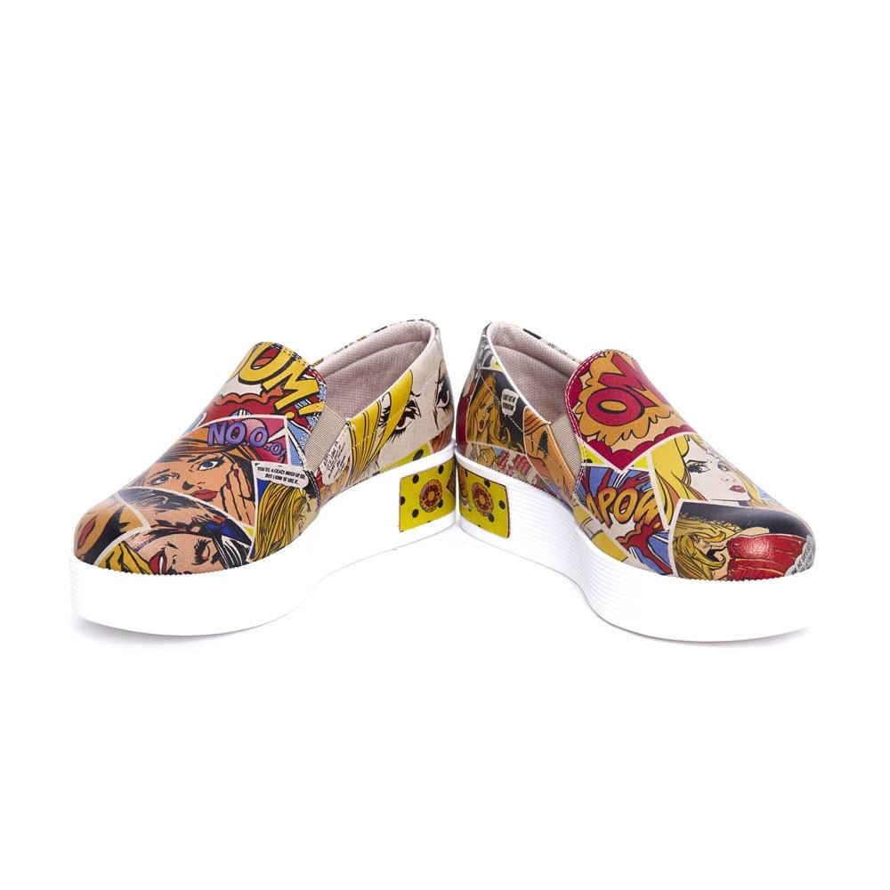 Pop Art Slip on Sneakers Shoes VN4211