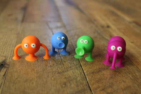 Poplings! Ridiculously cute silicon suction cup characters!