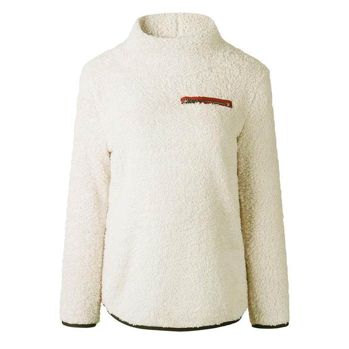 Fluffy Fleece Turtleneck Pullover