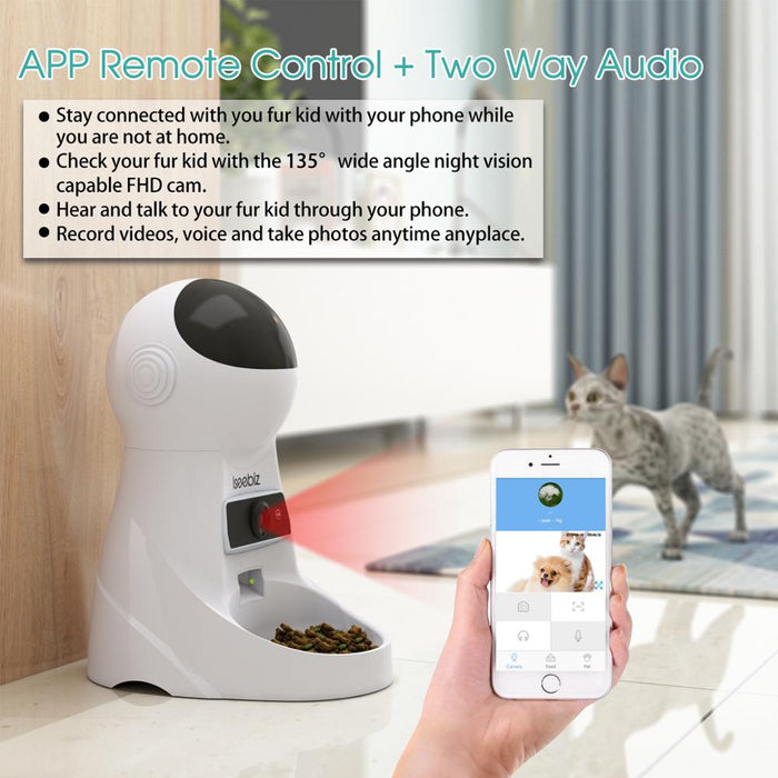 Automatic Pet Feeder With Voice Record & Wifi Camera