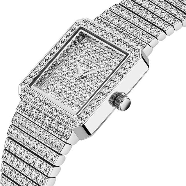 Iced Square Wrist Watch