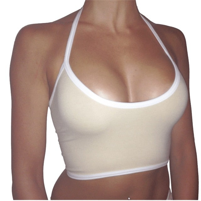 Crop Top with Halter Strap