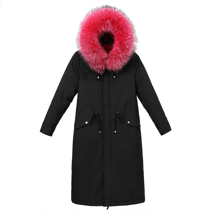 Winter Parka with Hood & Faux Fur Collar