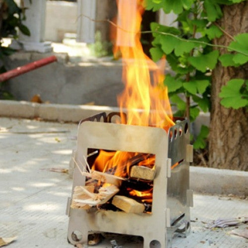 Lightweight Folding Wood Stove