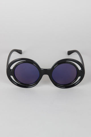 Bugs Eye Cutout Round Sunglasses