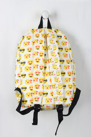 Canvas Emoji Backpack