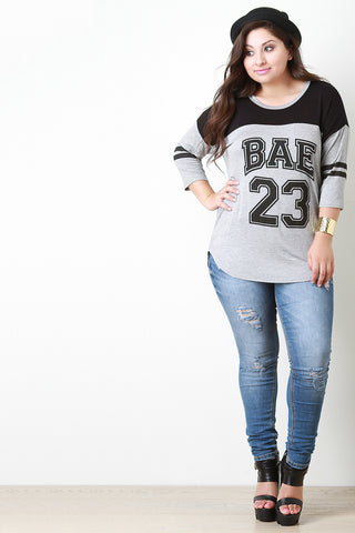 Bae Graphic Print Half Sleeve Tee