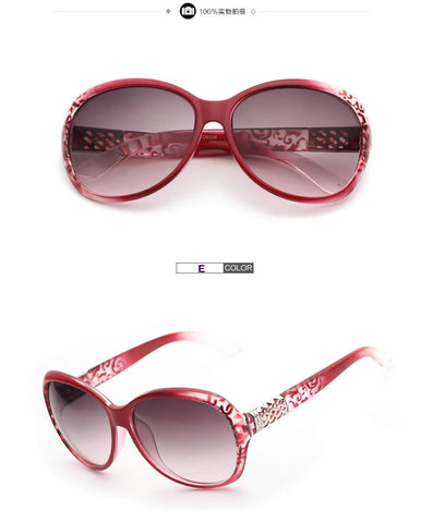 IVE Brand Sunglasses Women Fashion Gradient Sunglass Metal Crystal Decoration
