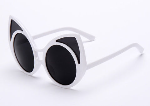 Cat Eye Sunglasses Points Women Vintage Oversized