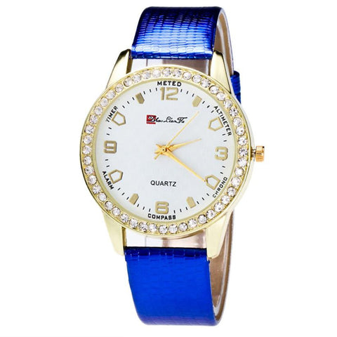New fashion ladies leather watch white quartz