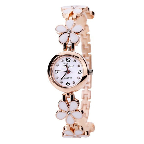 Lvpai Brand Fashion Luxury Women Dress Gemstone Quartz Wristwatches