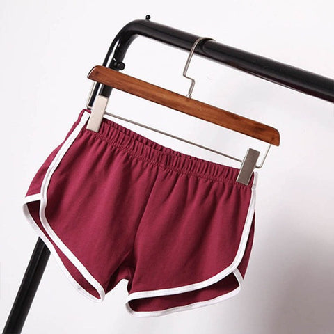Street Fashion Shorts Elastic Waist Loose Solid Soft Cotton Casual