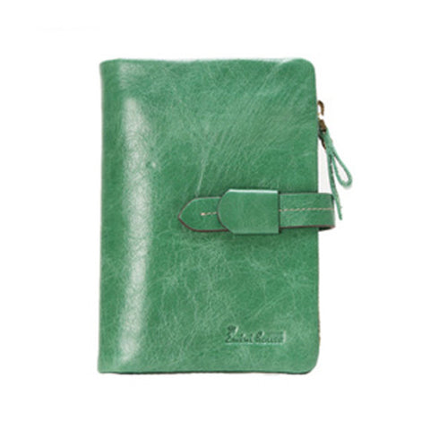 EMINI HOUSE Leather Wallet With Zipper Genuine Leather Wallets Card Holder