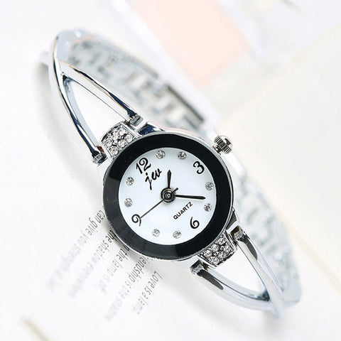 Fashion Lady Quartz Watch Women Rose Gold Bracelet Wristwatch
