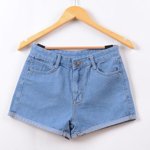 Jeans High Waist Stretch Denim Shorts