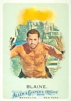 David Blaine trading card 2010 Topps Allen & Ginters Champions #272