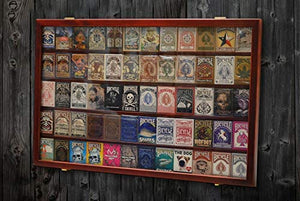 Collectors Card Display - 60 Deck Wooden Mahogany Display