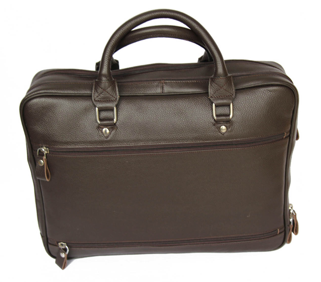 BOSS -Leather Brown  Briefcase MJ -Bag -Satchel -Moroccan Handmad