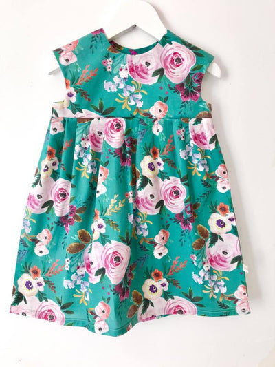 Dresses - 'Floral Teal' Dress